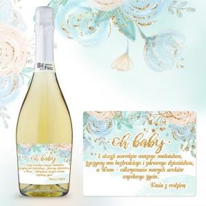 Prezent Na Narodziny Dla Rodzicow Wino Bezalkoholowe Etykieta Oh Baby Blue Www Sakramento Pl Wine Bottle Rose Wine Bottle Wine