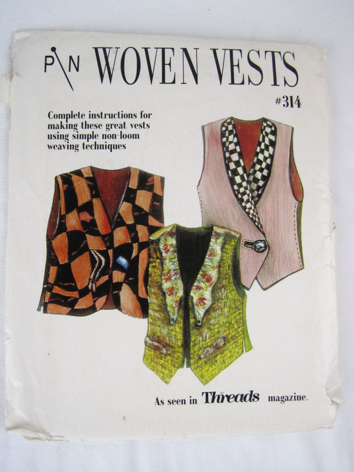 Pin Woven Vests Sewing Pattern – Lois Ericson and Diane Ericson #314 ...
