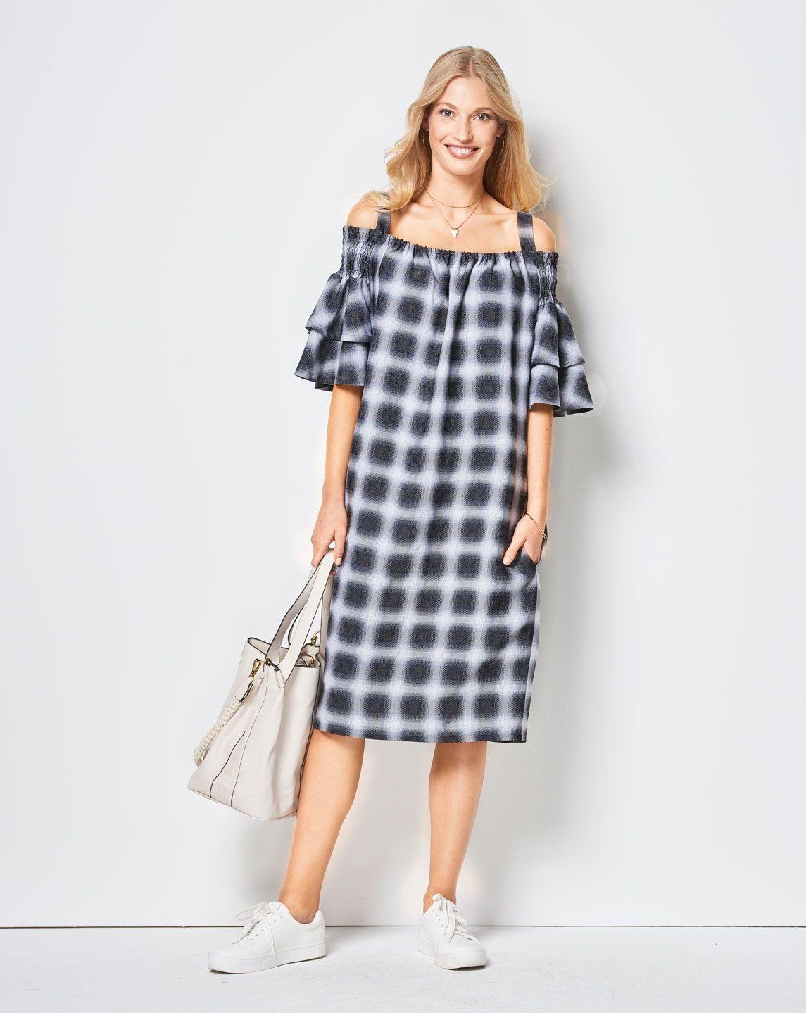 Hänger-Kleid F/S 2018 #6422B | Pinterest | legere Kleider, Schlicht ...
