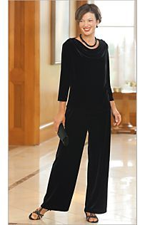 Drapers and Damon's - gorgeous clothes up to 3x.  Love this draped neckline on the velvet top!