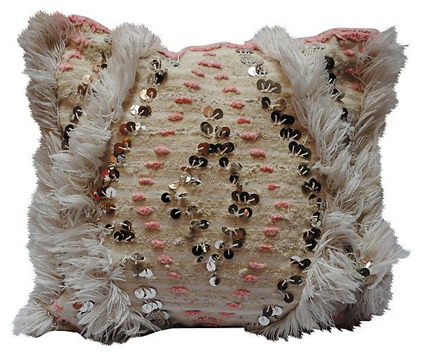One Kings Lane - Style Guide - Pink Moroccan Pillow Sham