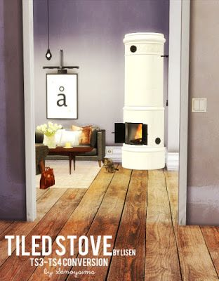 My Sims 4 Blog: Objects - Fireplace | Living Room | Pinterest | Sims