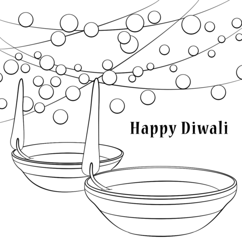 diwali coloring pages Happy Diwali coloring page | Free Printable Coloring Pages | Happy  diwali coloring pages