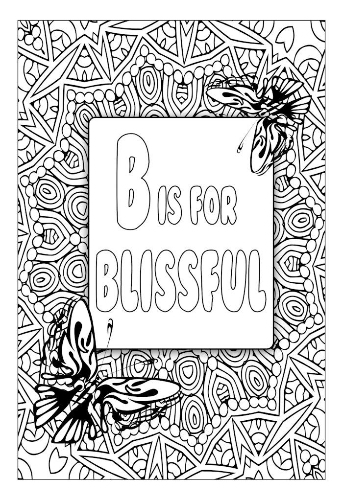 Typography Art, Word Art, Coloring Page, Inspirational, Motivational