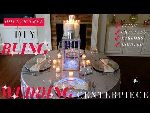 Dollar Tree Wedding Diy Diy Bling Centerpiece Dollar Tree Bling