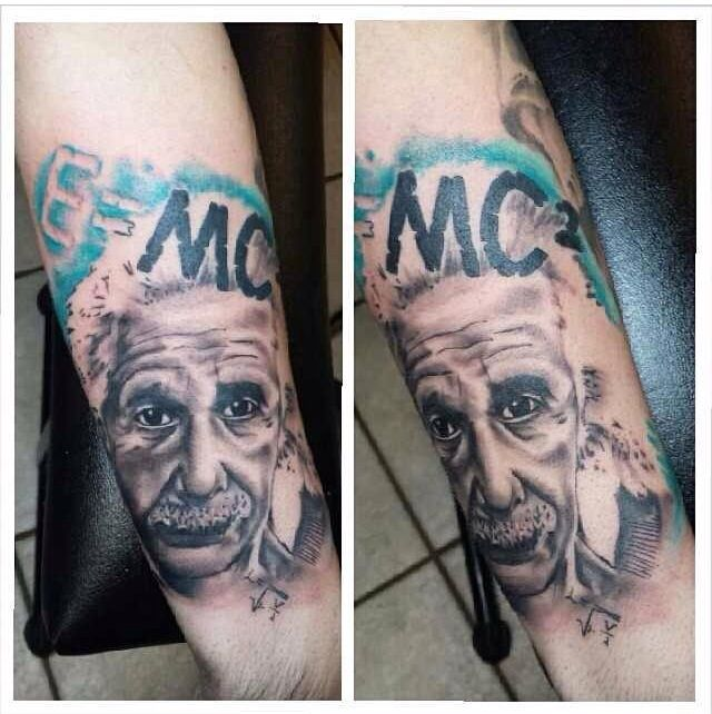 My Albert Einstein Tattoo Done By Austin Hansen In Bedford Tx