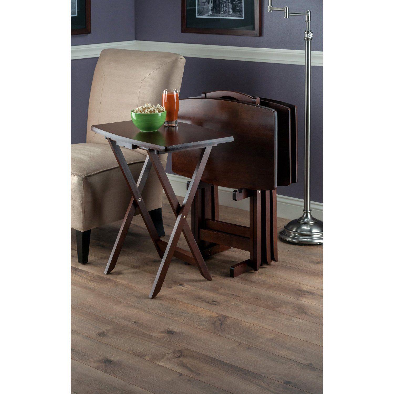 Amazon.com: Winsome Wood TV Table Set, Walnut: Home & Kitchen ...