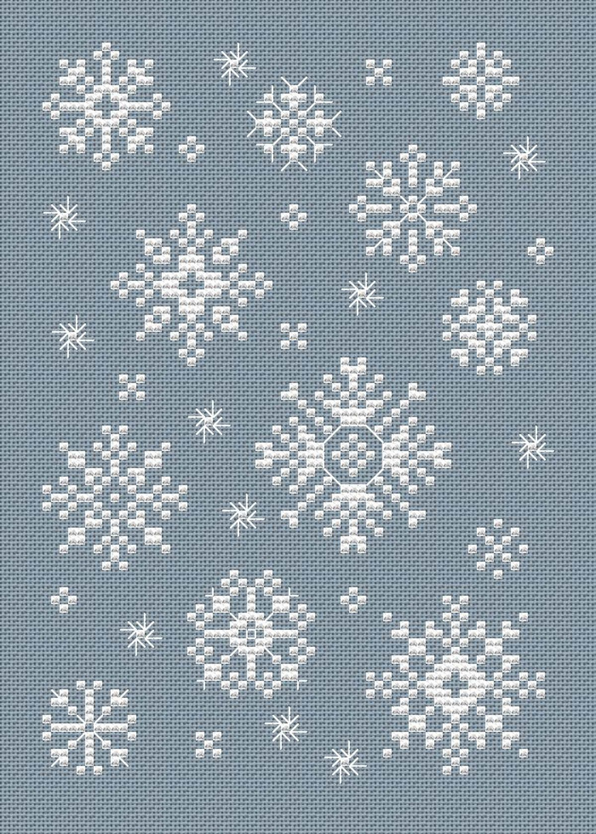 Snowflakes Cross Stitch Chart
