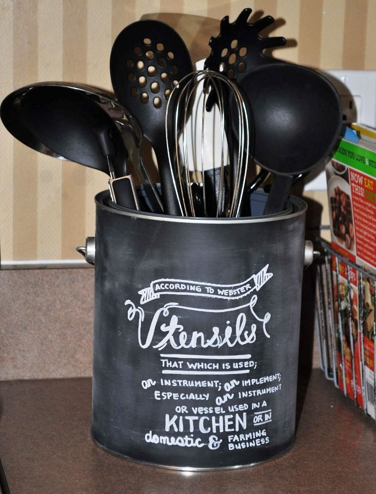 Carousel Kitchen Utensil Holder Outdoor Kitchens Texas Top 10 Best Diy Holders Projects Home Chalk Typography Art