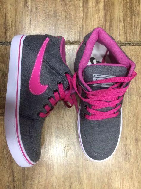 603ab75167621 Tênis Botinha Nike Cano Alto Feminino Queima Oferta - R$ 89,90 em Mercado  Livre