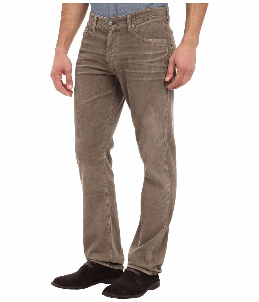 84d0cc851e582 Ag Adriano Goldschmied Men s The Protege Straight Corduroy Pants 36 34 NWT   176  AGAdrianoGoldschmied…