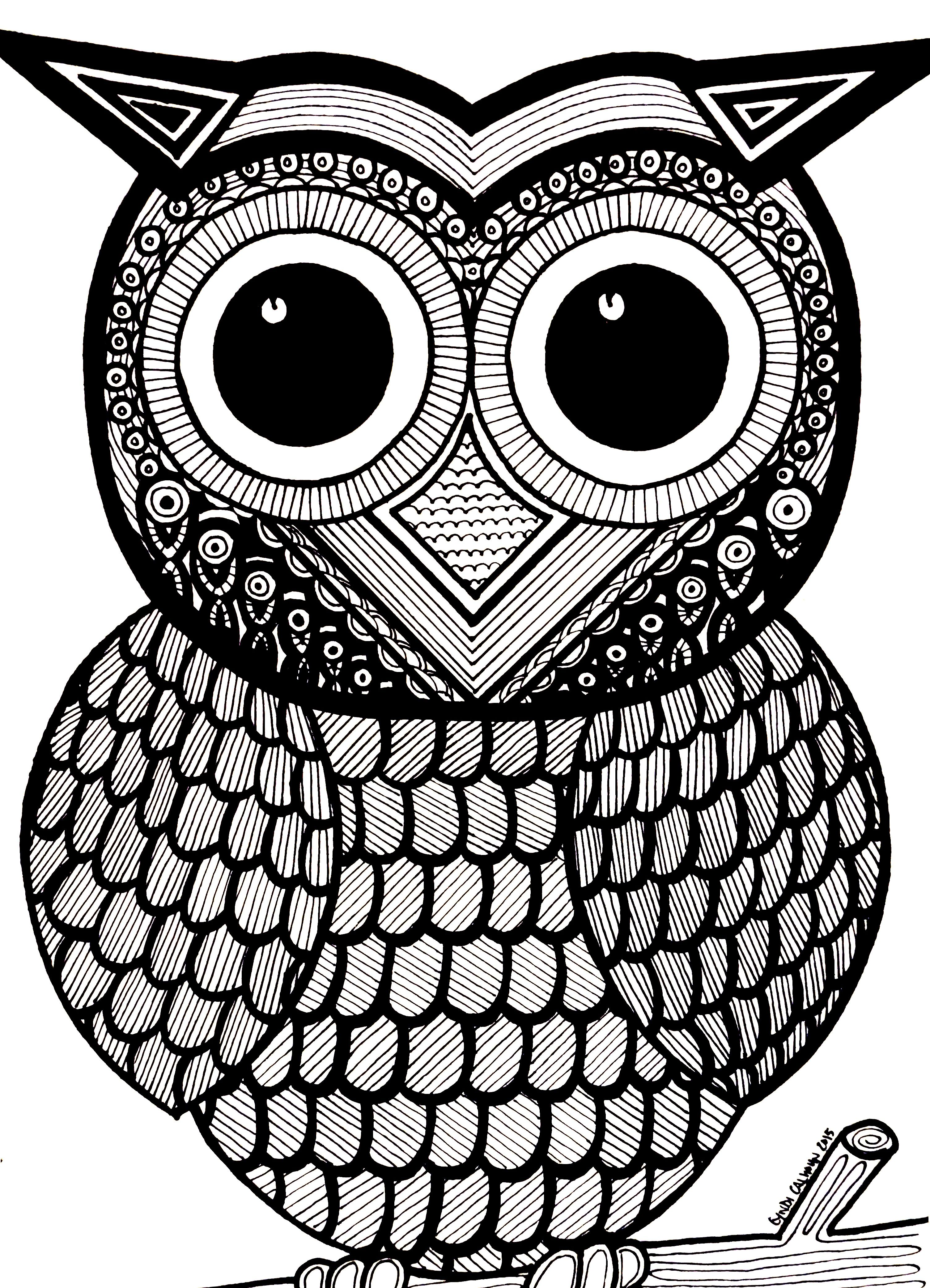 Owl Coloring Pages Full Page