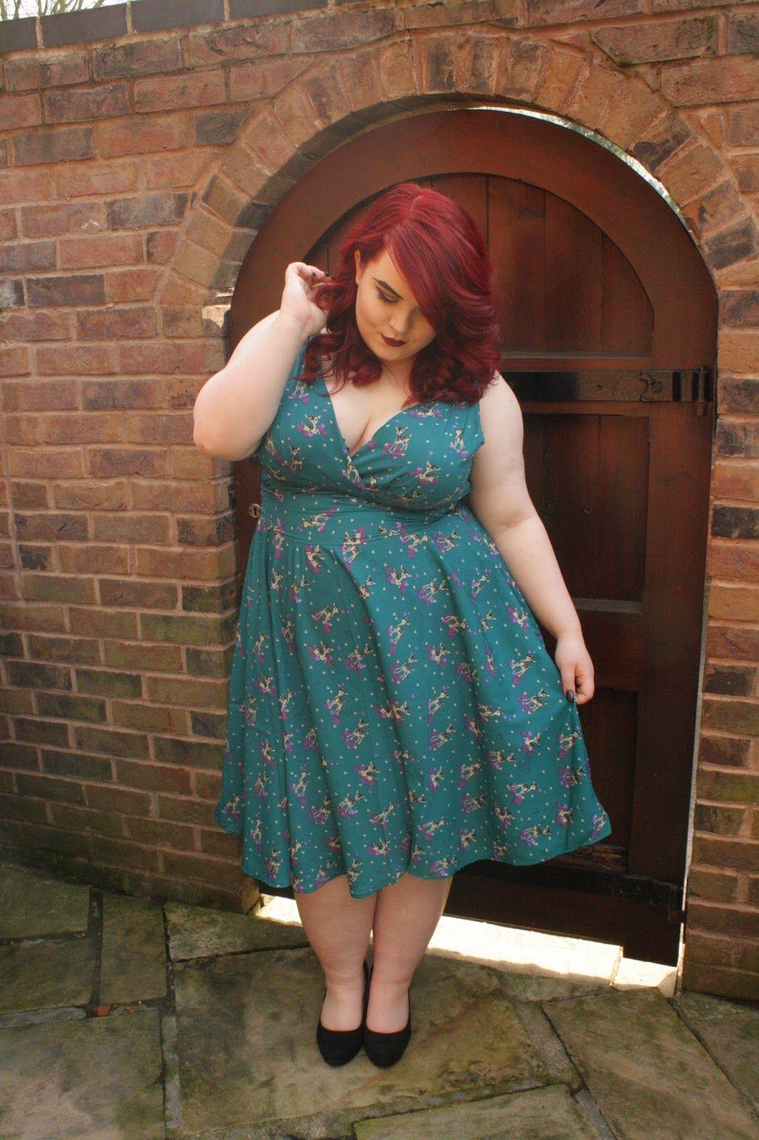 bbw couture u0027s teal deer design 1950s vintage party dress my plus