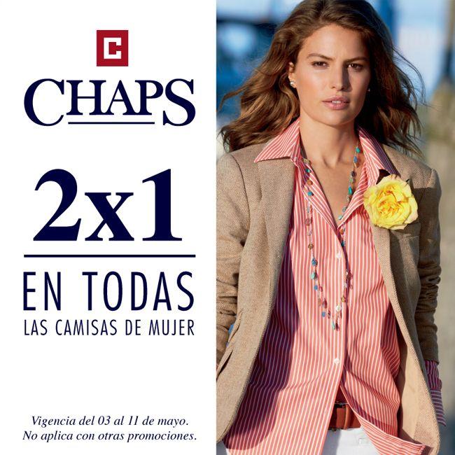 Ven a #Chaps y escoge el regalo de mamá, todas las camisas de mujer tienen 2x1. ¿Qué esperas? ¡Ven ya a #Antea!