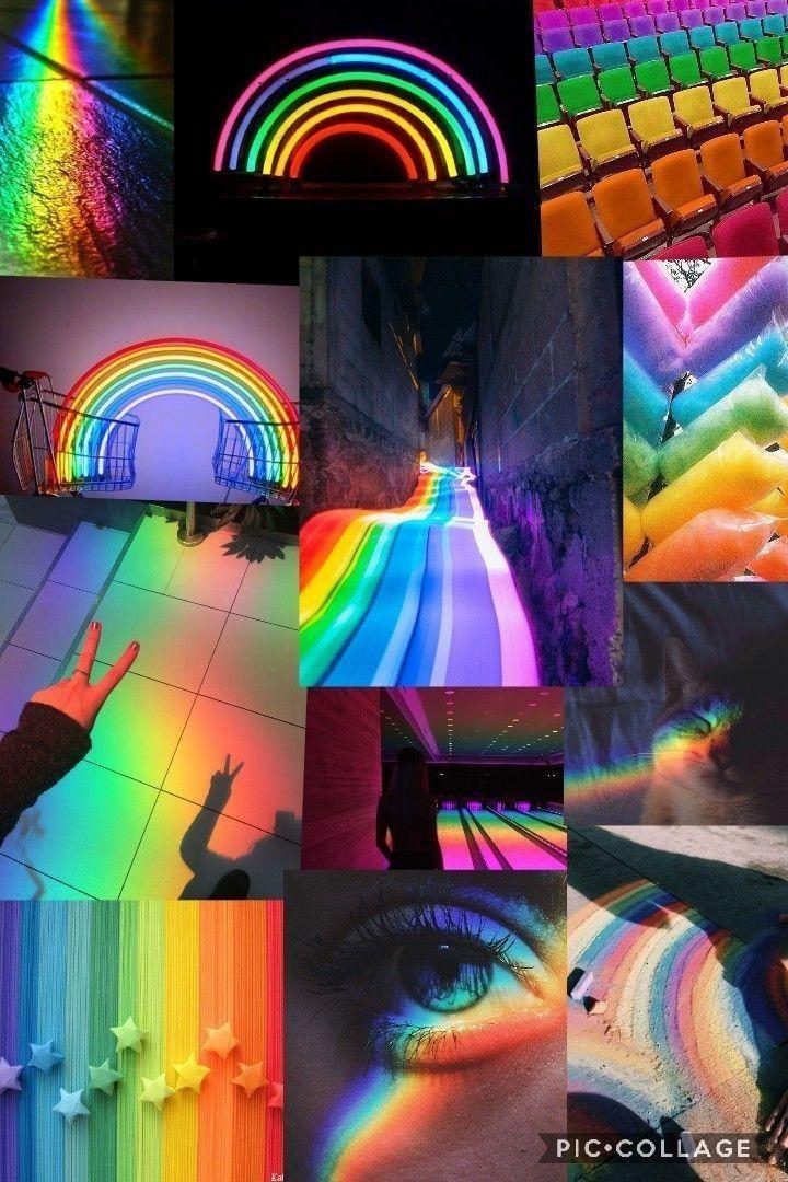 Rainbow Aesthetic Wallpaper Collage Rainbow Aesthetic Wallpaper Rainbow Wallpaper Rainbow Wallpaper Iphone Rainbow Aesthetic