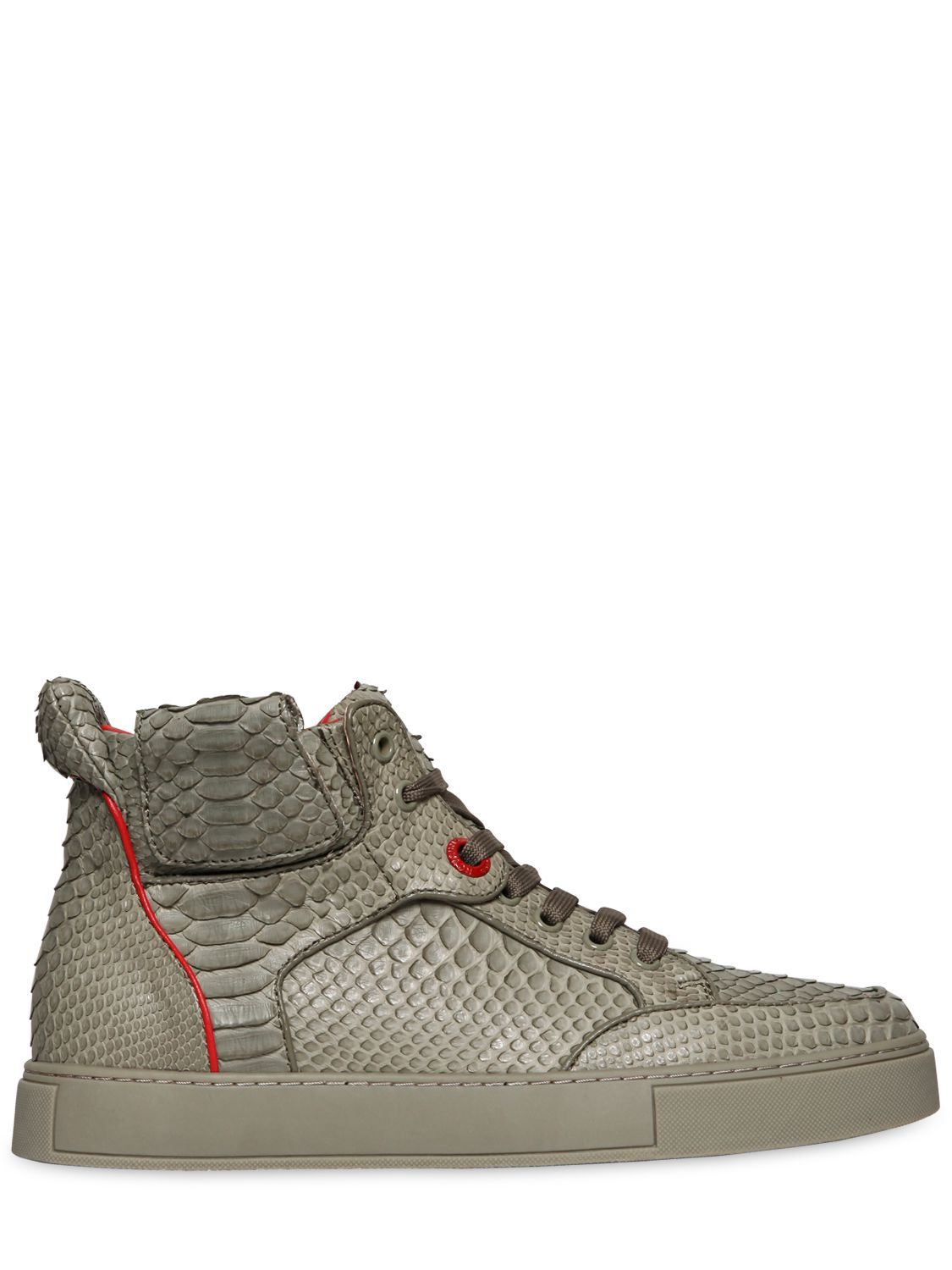 royaums handmade python high top sneakers luisaviaroma