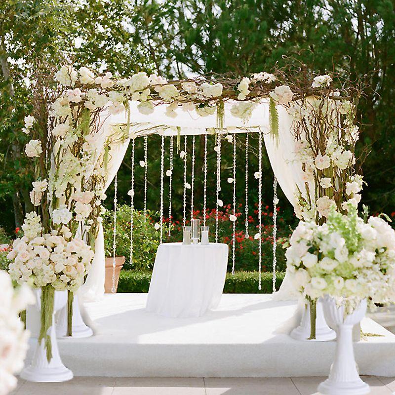 Capitol Inspiration Diy Wedding Ceremony Altars: Milan Inspired PVC Flower Pot 4/pk - White