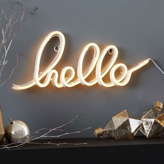 Led Light Up Word Objects Hello Light Up Words Light Words Led Lights