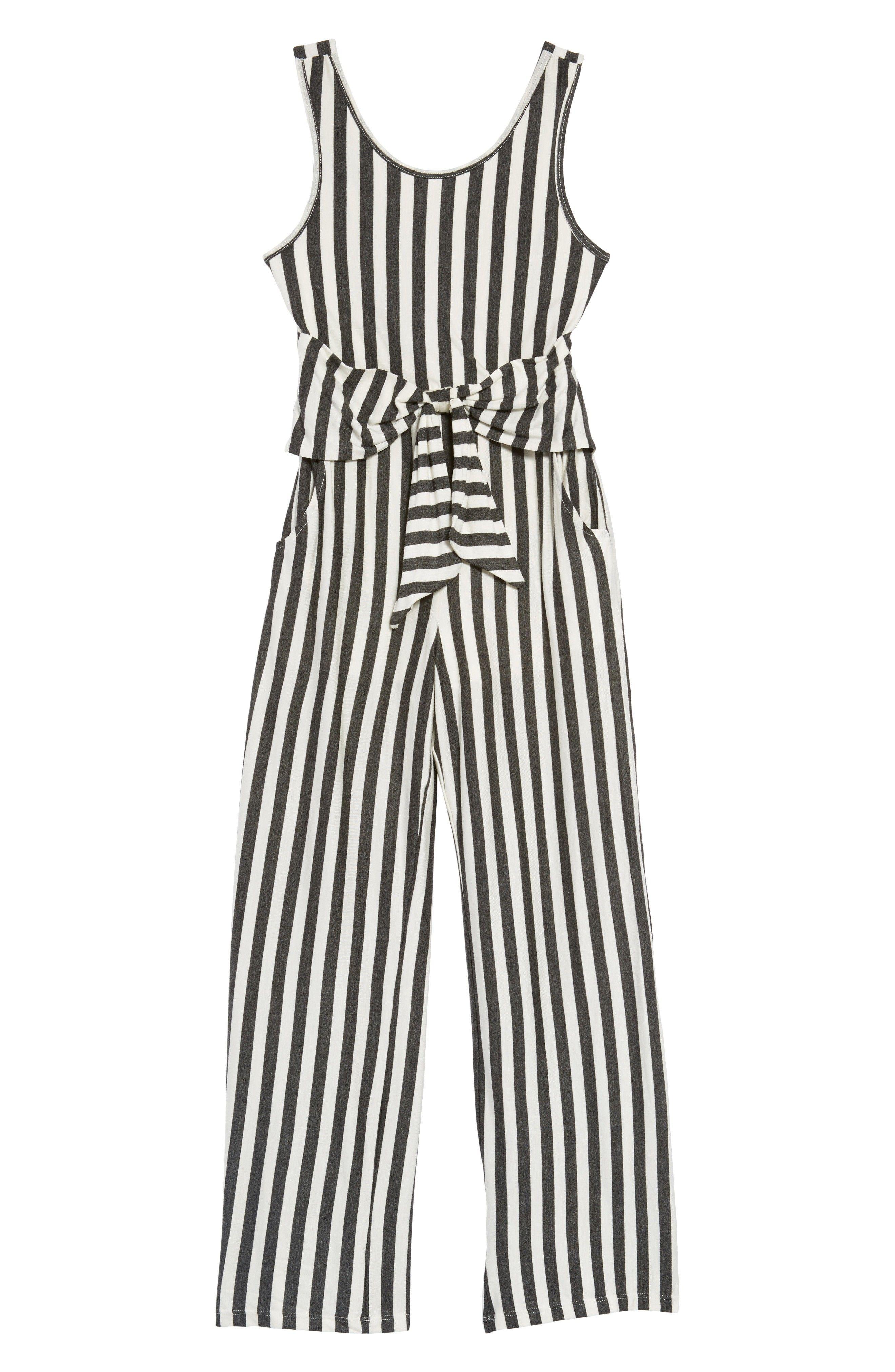 cb895b65f555 Stripe Tie Front Knit Jumpsuit KIDS TWEEN fashion