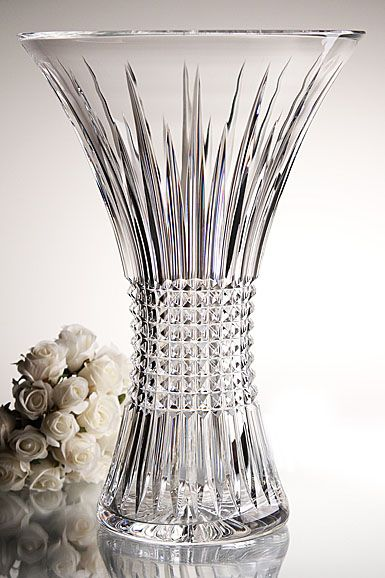 Waterford Crystal Lismore Diamond 14 Crystal Vase Baccarat