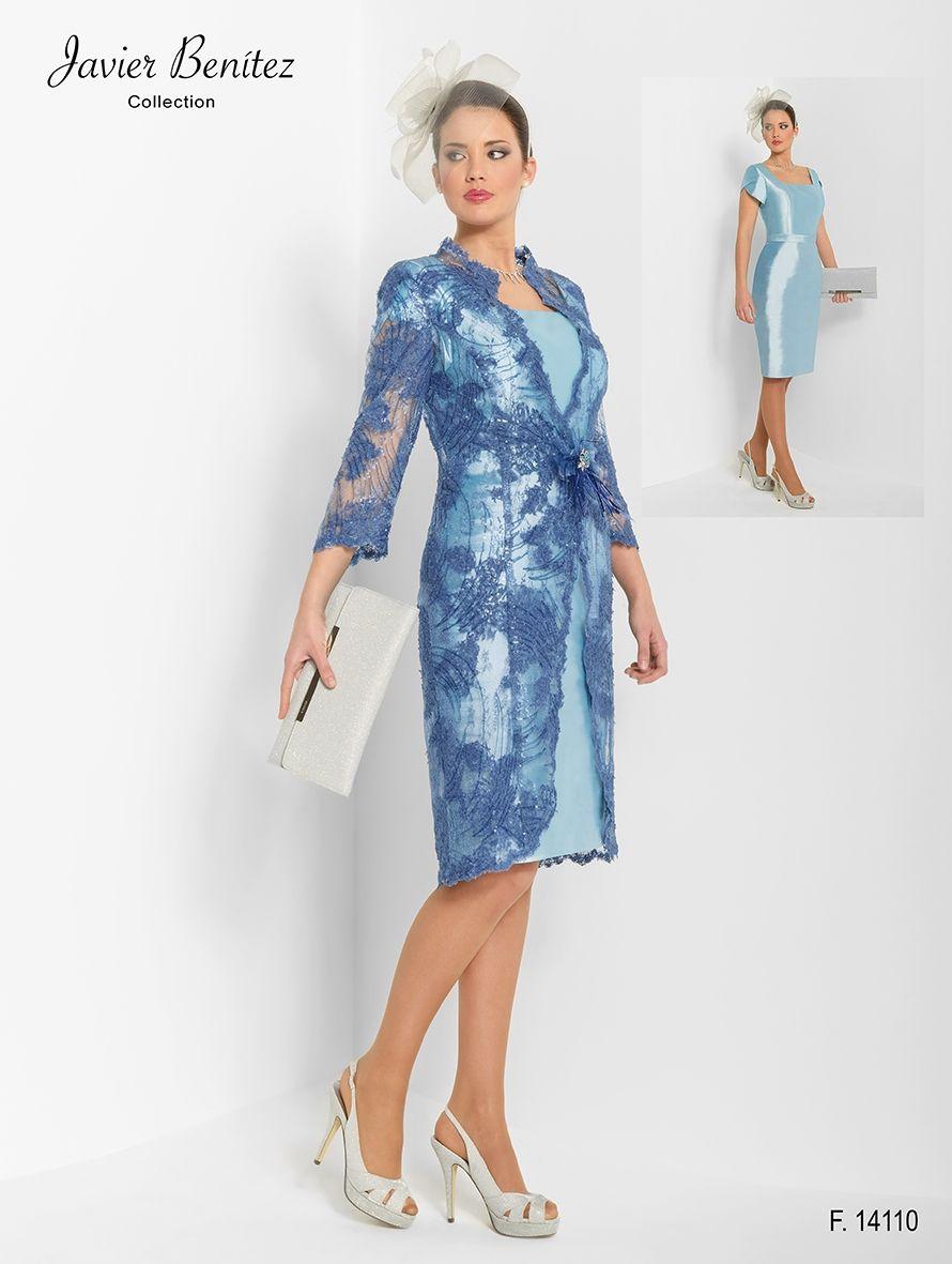 b11526111 Elegante vestido con abrigo de encaje