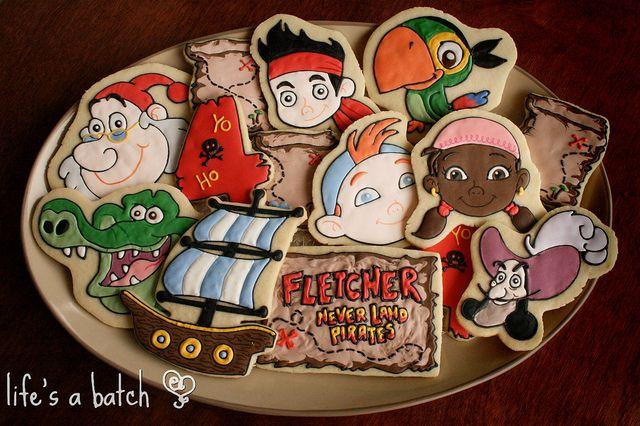 Jake & Neverland Pirates Cookies. by navygreen, via Flickr