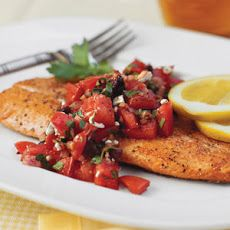 Pan-Seared Trout With Italian-Style Salsa Recipe