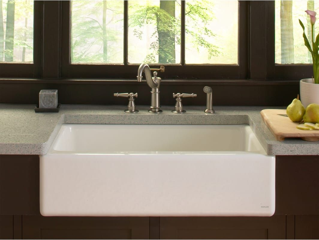 Kohler K 6546 4u With Images Farmhouse Sink Kitchen Cast Iron