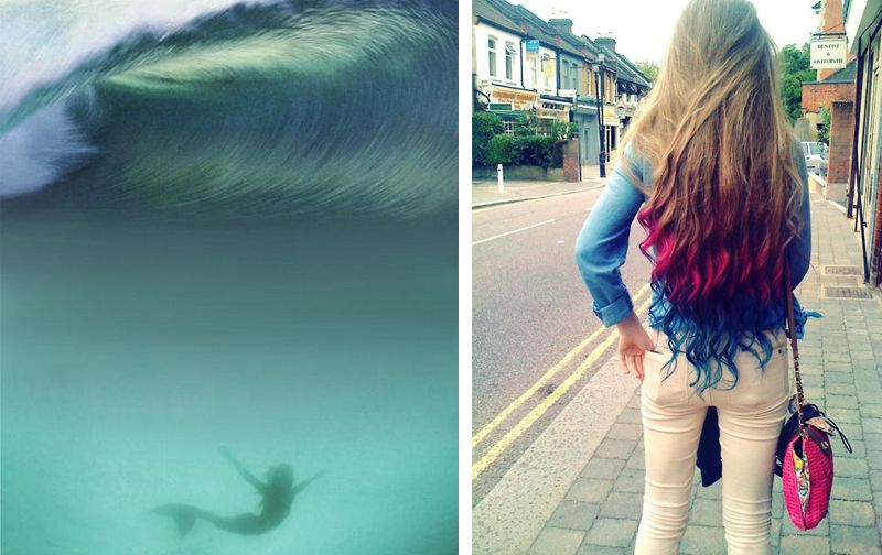 mermaid hair! I freaking want my hair like this soooooo bad!!! :)