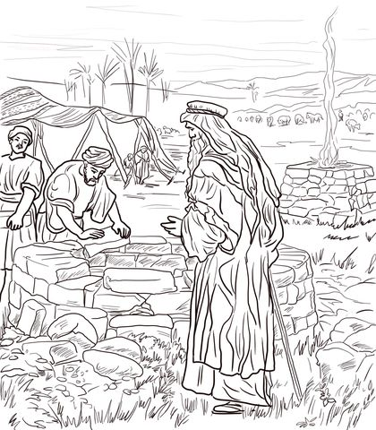 Isaac Digs A Well Coloring Page From Isaac And Rebekah Category Select From 24104 Printable C Bible Coloring Pages Bible Coloring Sunday School Coloring Pages
