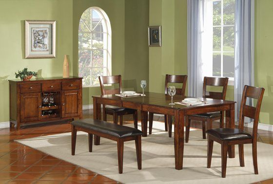 Mango 5 Piece Dining Set Extendable Dining Table Solid Wood