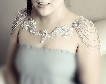 Accesorio de vestido de novia novia charreteras hombro por ADbrdal