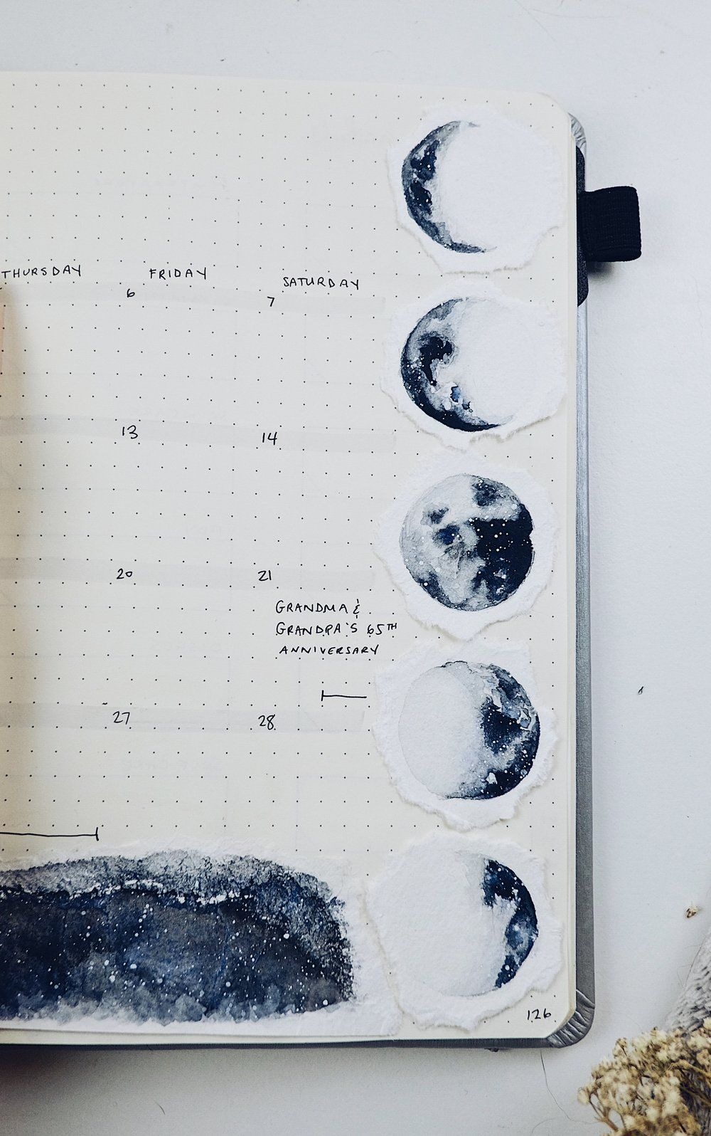 Plan With Me July 2018 Bullet Journal Set Up (Watercolour Moon Theme)