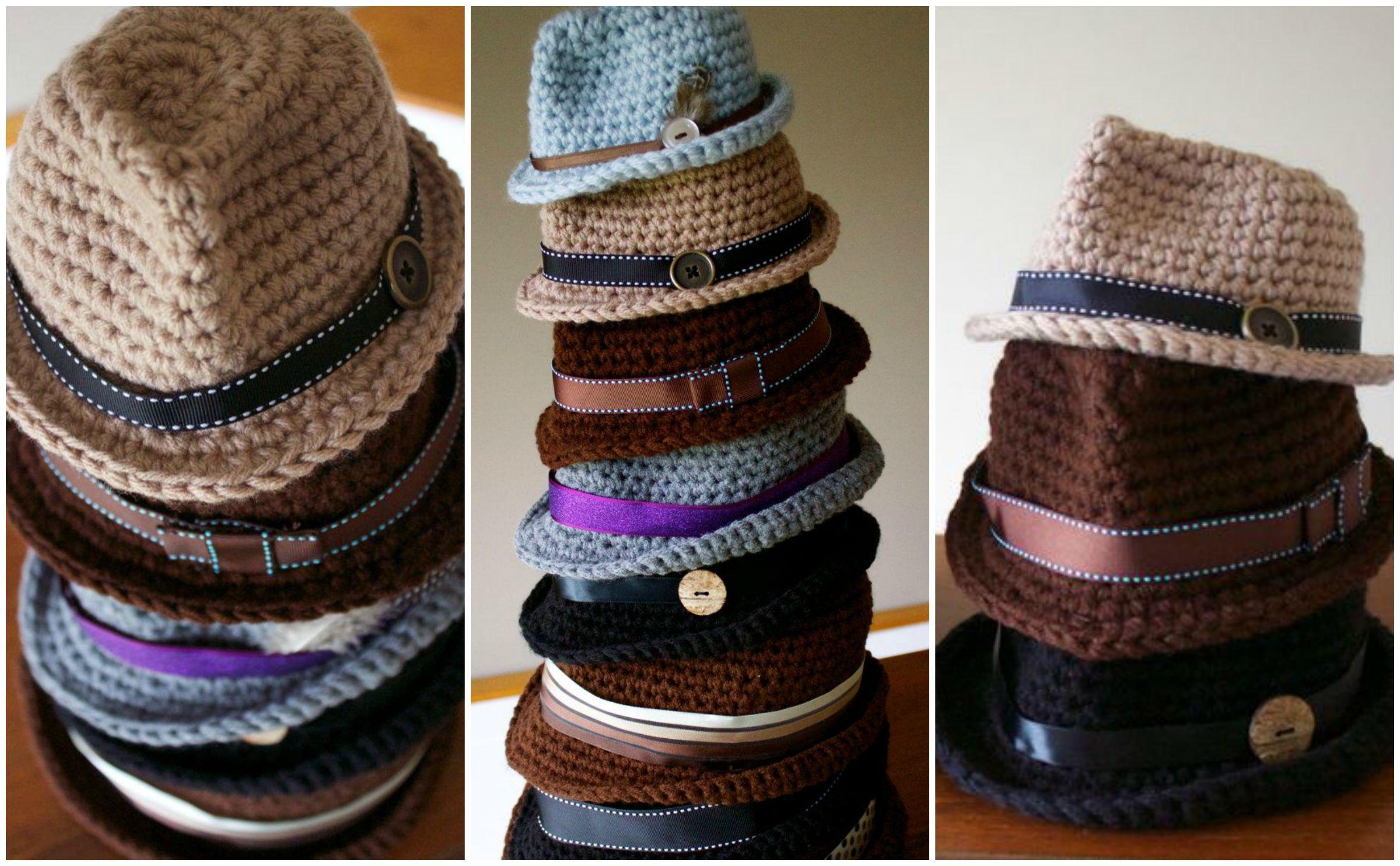 How to crochet a fedora. Free pattern | free pattern | Pinterest ...