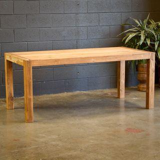 Very Basic Reclaimed Teak Wood Simple Dining Table India