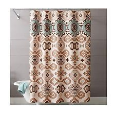 Aztec Fabric Shower Curtain Southwestern Design Fabric Shower