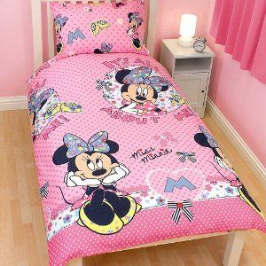 Amazon.com: Girls Minnie Mouse Quilt/Duvet Cover Bedding Set (Twin Bed) (Pink): Home & Kitchen
