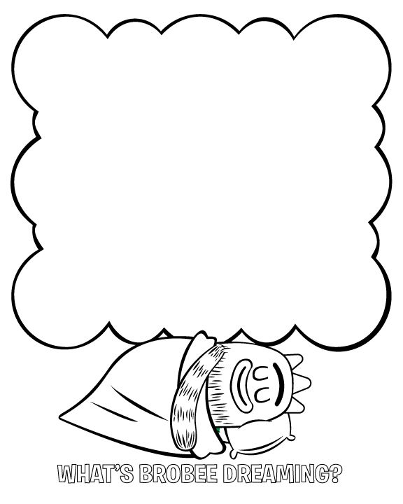 What Is Brobee Dreaming Coloring Page With Images 2nd Birthday