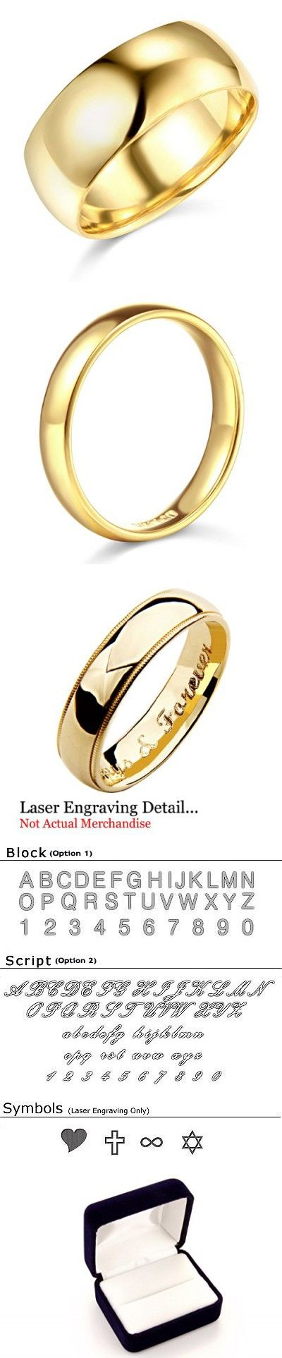 Laser Engraving Service 14k Yellow Or White Gold 8mm Solid Comfort Fit Plain Wedding Band Laser Engraving Wedding Bands White Gold