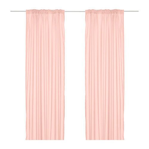 Ikea Pair Of Curtians Curtain Vivan Pink New In Home Garden Window Treatments Hardware Curtains Drapes Valances Curtains Living Room Pink Curtains Ikea