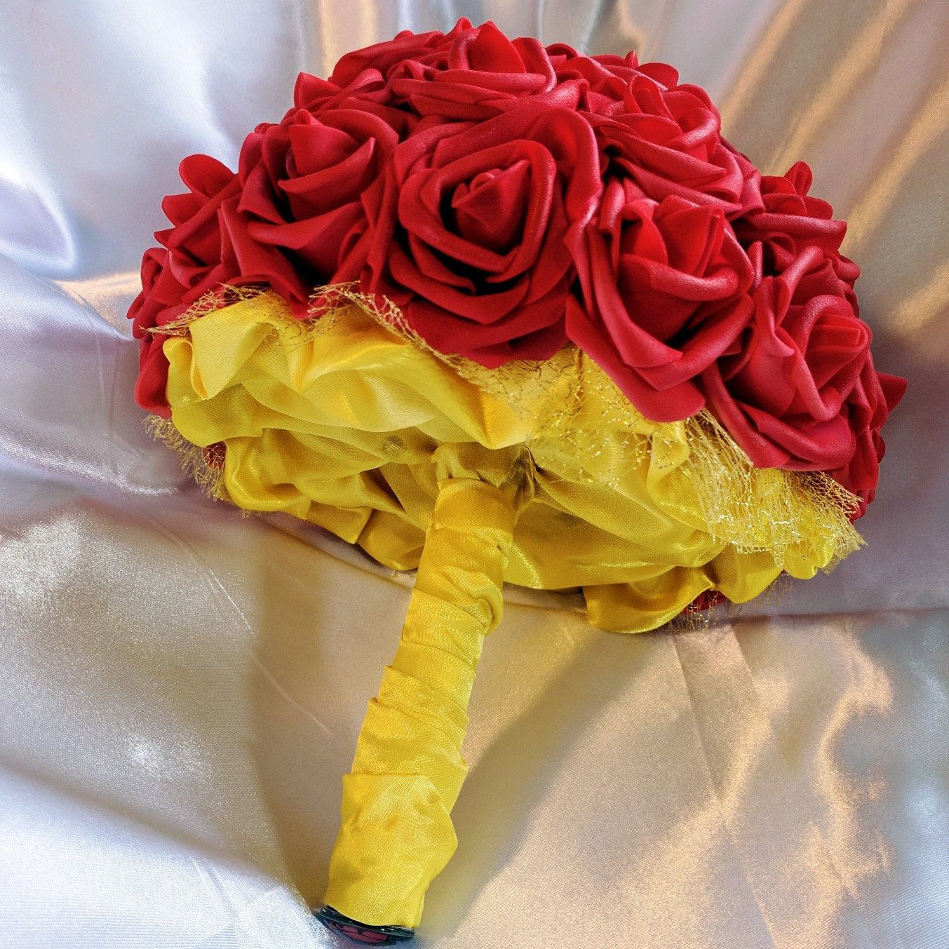 Disneys Beauty And The Beast Belle Inspired Bouquets For Wedding