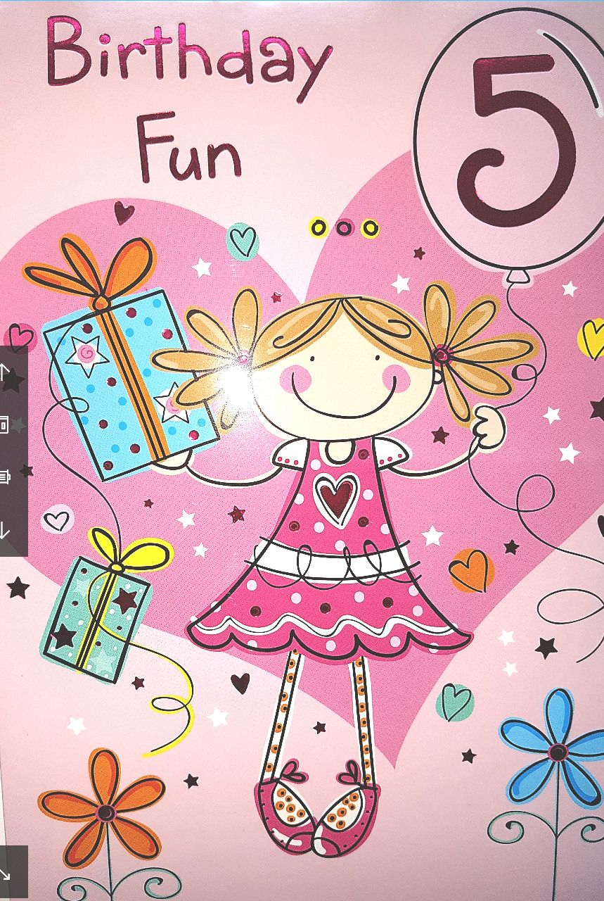 gbp birthday party girl th birthday age birthday card