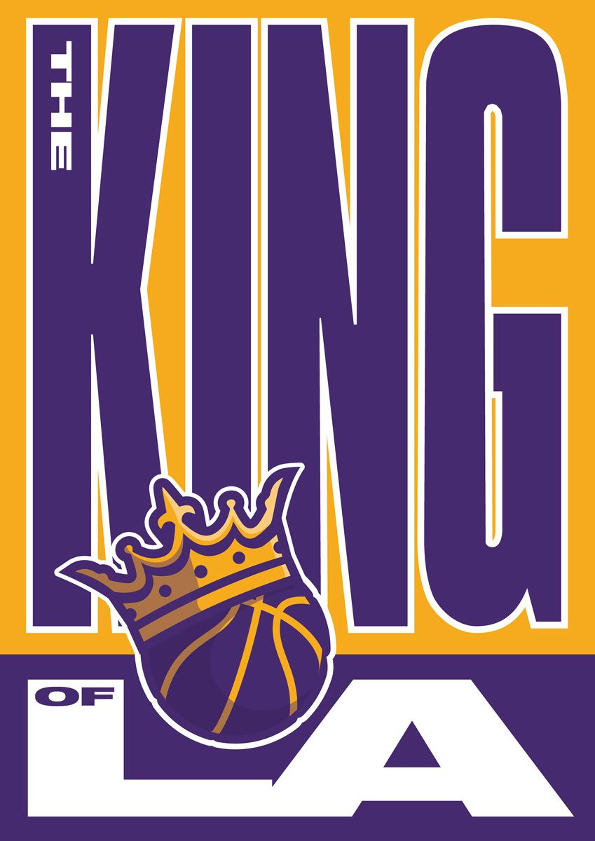 image regarding Lakers Printable Schedule named The King Los Angeles Lakers LA Lebron James Kobe Bryant