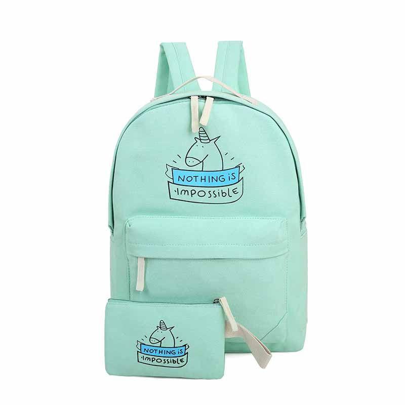 CIKER женщины холст рюкзак мода путешествия сумки печати рюкзаки 2  шт. компл. новый стиль ноутбук рюкзак для девочек подростков купить на  AliExpress bfdeee1f6a0