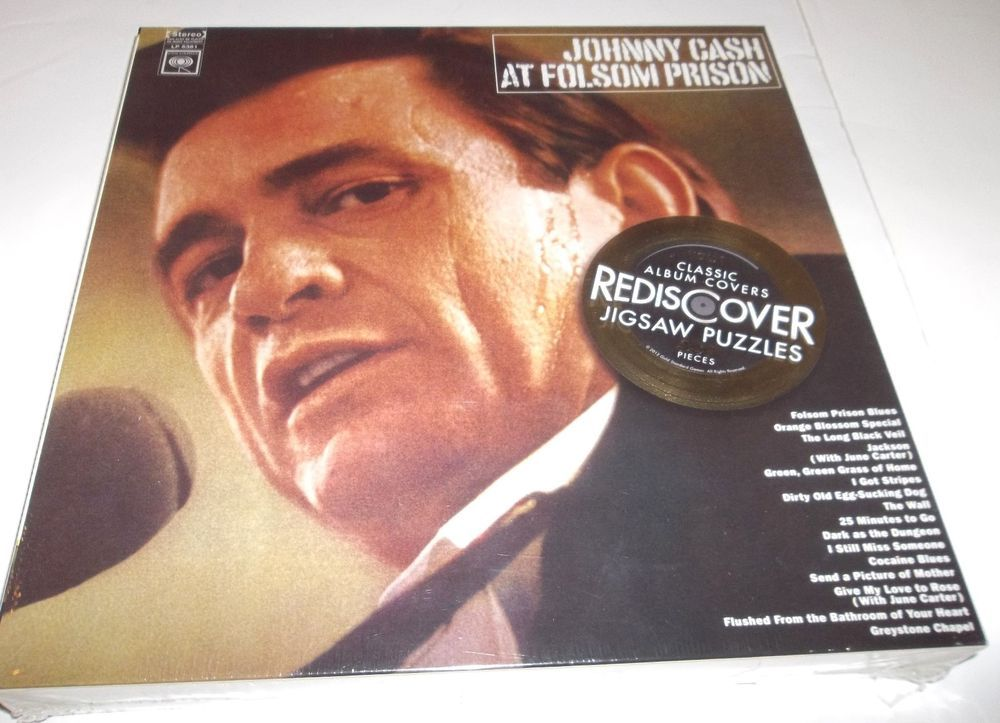 Johnny Cash Jigsaw Puzzle Classic Album Covers At Folsom Prison Double Sided New Classic Album Covers Album Covers Johnny Cash