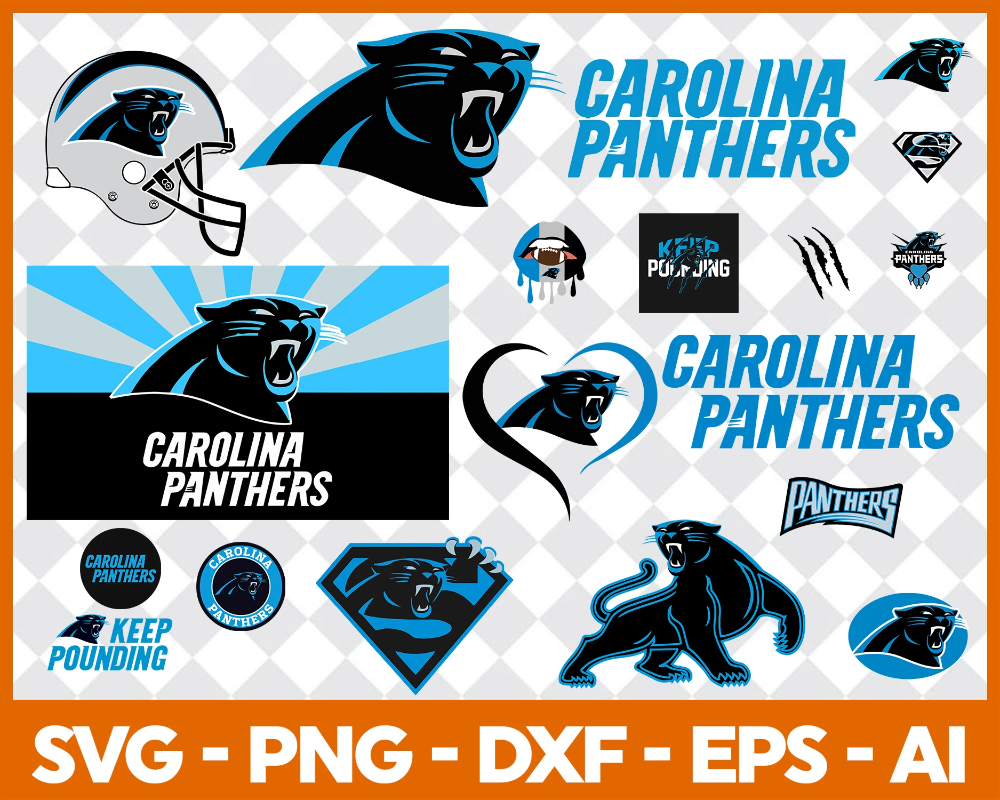 Carolina Panthers SVG,SVG Files For Silhouette, Files For