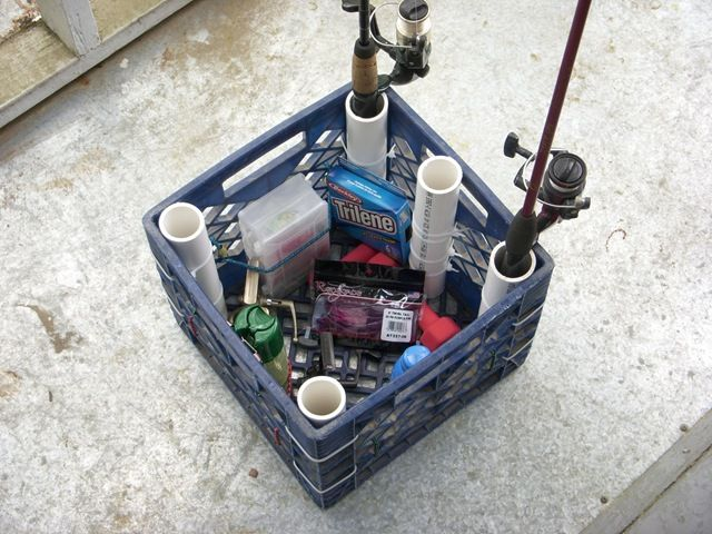 The diy rod holder storage box for your fishing kayak for Kayak fishing pole holder