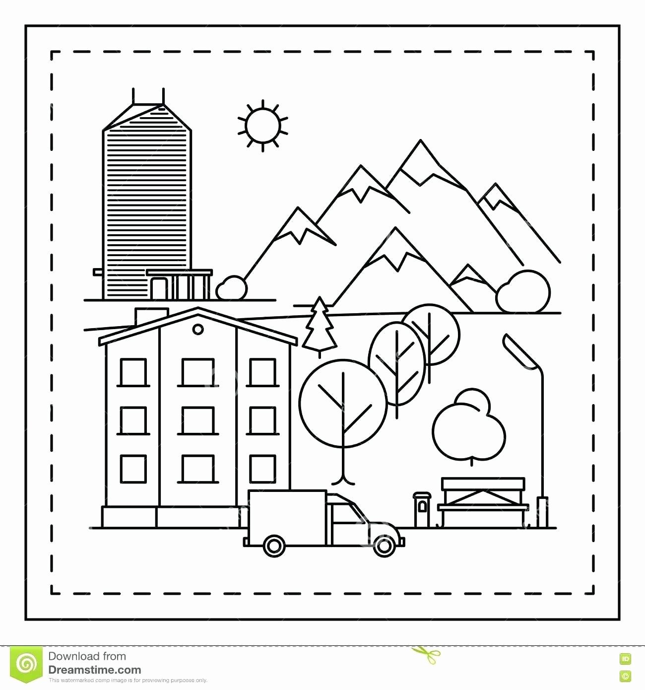 Landscape Coloring Pages To Print Di