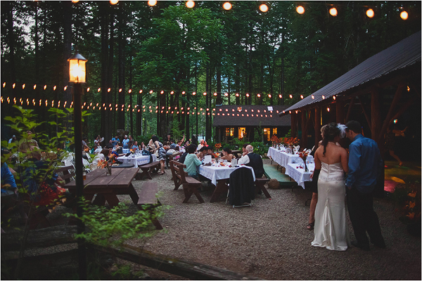 Woodsy Oregon Wedding Reception Loloma Lodge Jane In