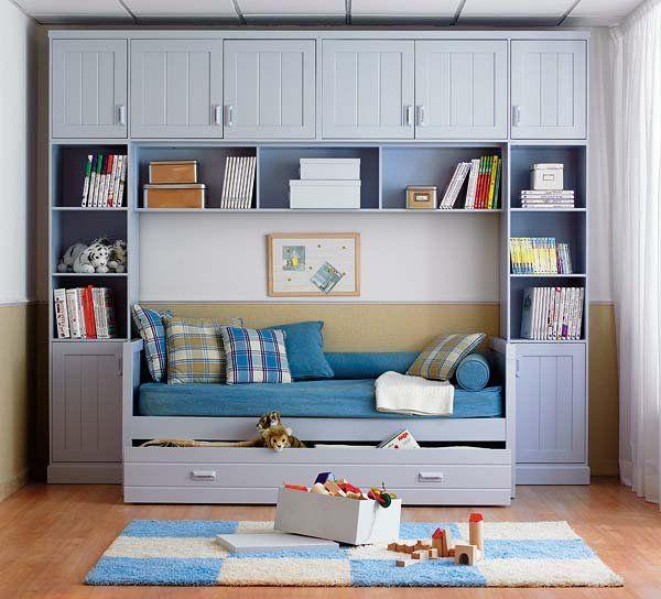 Ideas para ganar zona de almacn  Decoracin  Dormitorios nios Cama armario y Habitacin juvenil nia